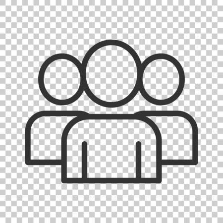 People communication icon in flat style. People vector illustration on white background. Partnership business concept.  イラスト・ベクター素材