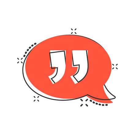 Speak chat icon in comic style. Speech bubble cartoon vector illustration on white isolated background. Team discussion splash effect business concept. Ilustração