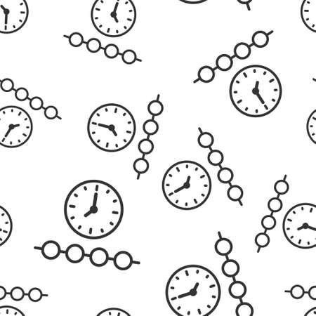 Timeline icon in flat style. Progress vector illustration on white isolated background. Diagram seamless pattern business concept.