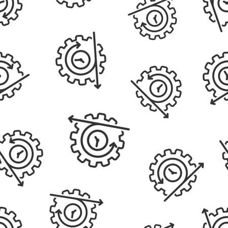 Agile icon in flat style. Flexible vector illustration on white isolated background. Arrow cycle seamless pattern business concept. Ilustrace