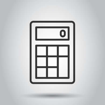 Calculator icon in flat style. Calculate vector illustration on white isolated background. Calculation business concept.