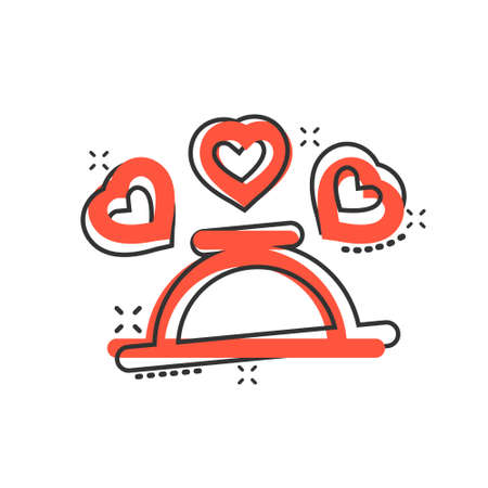 Romantic dinner icon in comic style. Cafe cartoon vector illustration on white isolated background. Restaurant splash effect business concept.