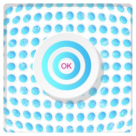snowwhite: abstract button Illustration