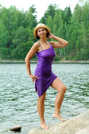 Girl in a wet dress
