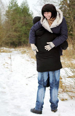 Couple in the woods photo