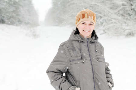 average age: Woman in the snow