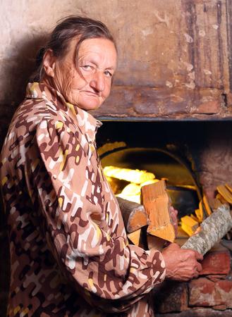 pensioner in the village Banco de Imagens - 120853984