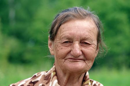 pensioner in the village