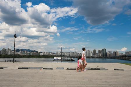 SEOUL, SOUTH KOREA - SEPTEMBER 15: Seoul Hangang Park at Yeouido in the summer Photo taken on September15, 2014  in Seoul,South Korea.