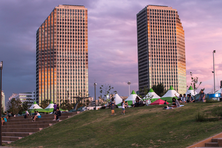 SEOUL, SOUTH KOREA - AUGUST 28: Yeouido Hangang Park in the summer Photo taken on AUGUST 28, 2016  in Seoul,South Korea