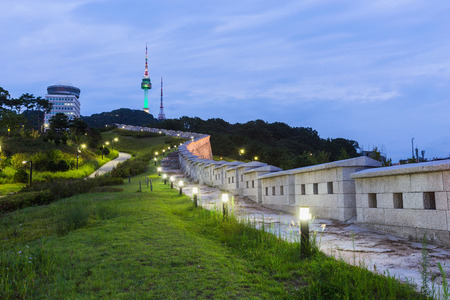 Namsan Park and N Seoul Tower South Korea.