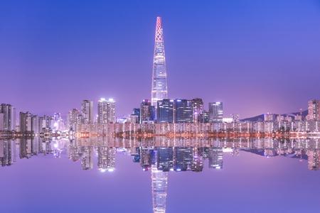 Seoul City in der Nacht Südkorea