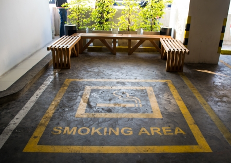 Location and smoking are the seats and trees  Stock Photo - 24837113