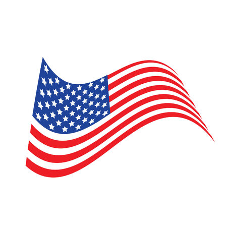 Vector illustration - USA flag in white background Vector