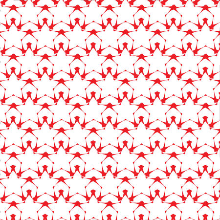Red sta paper pattern