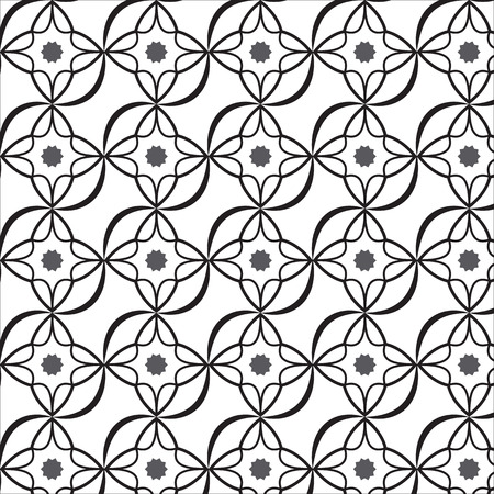 Black and White graphic pattern for abstract vector background. Vector