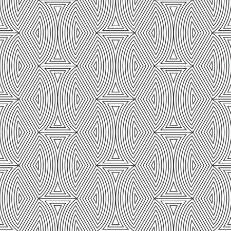 Black and White  seamless  pattern abstract vector background. Vector