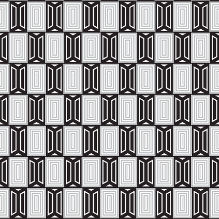 wall cell: Black and White seamless graphic pattern abstract vector background.