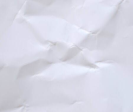 White wrinkled paper background texture 写真素材