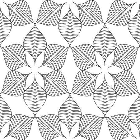 wall cell: Black line Vector seamless pattern. Modern stylish texture. Illustration