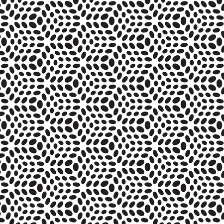 pattern with dotted Vector repeating texture. Stylish back and white background