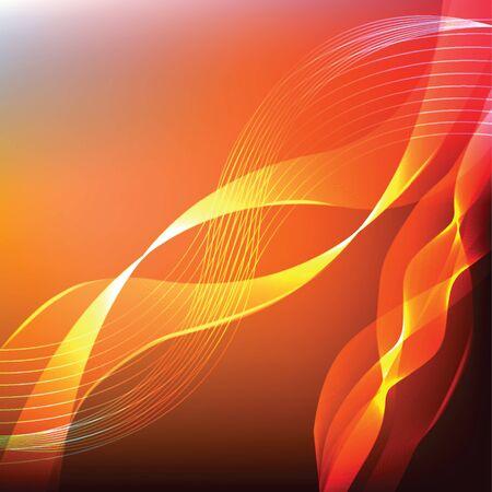 원활한: 다채로운 부드러운 웨이브 빛 벡터 배경입니다. 10. 오렌지 파도를 EPS
