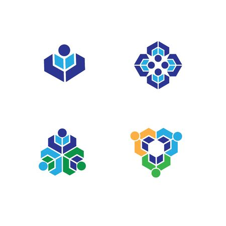 lively: Set of people logo. People together celebrating, Leader concept. Corporate Management Vector symbol. Social network. lively community