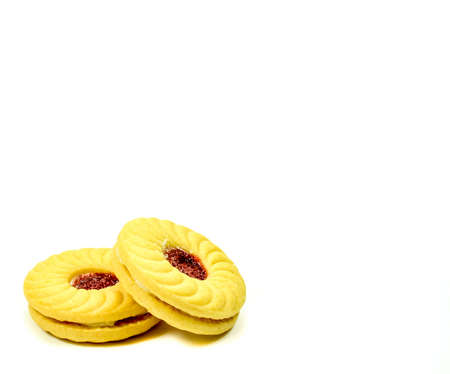 tasty: tasty cookies on a white background