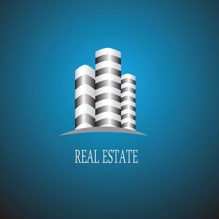 콘도: Logo template real estate, apartment, condo, house, rental, business. brand, branding, logotype, company, corporate, identity. Clean, modern and elegant style design