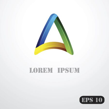 triangular shape: The triangular shape of the logo templates Vector business identity.
