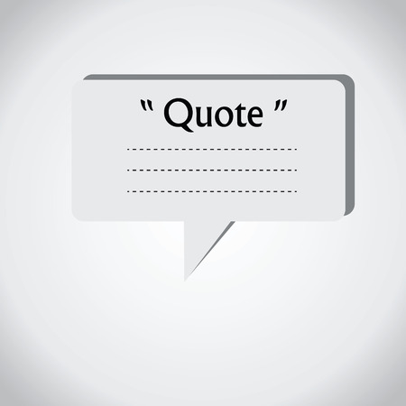 dialog box: Quote blank with text bubble. Quote box balloon. Commas, note, message, quote blank, template, text, marked, tag and comment. Vector stock element for design. Dialog box.