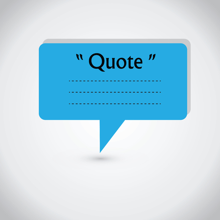 dialog box: Quote blank with text bubble. Quote box balloon. Commas, note, message, quote blank, template, text, marked, tag and comment. stock element for design. Dialog box. Illustration