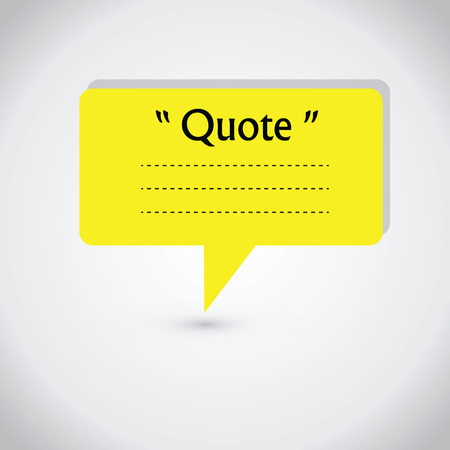 stock quote: Quote blank with text bubble. Quote box balloon. Commas, note, message, quote blank, template, text, marked, tag and comment. stock element for design. Dialog box. Illustration