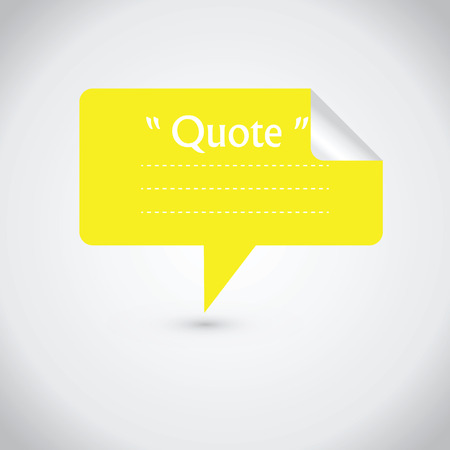 stock quote: Quote blank with text bubble. Quote box balloon. Commas, note, message, quote blank, template, text, marked, tag and comment stock element for design. Dialog box.