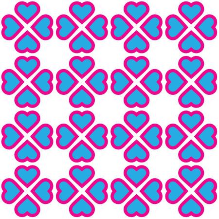 corazones azules: Modelo de los corazones de color rosa y azul. Fondo abstracto. Vectores