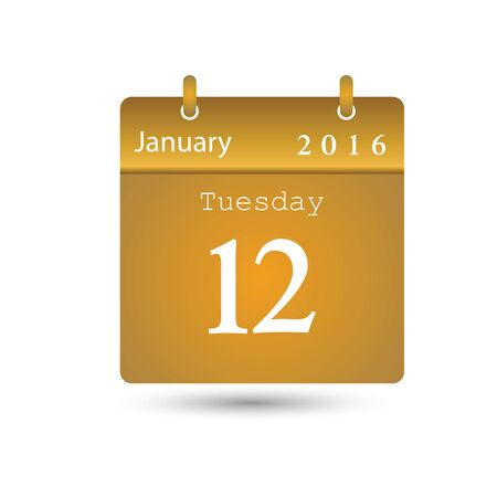 mon 12: Vector calendar Illustration