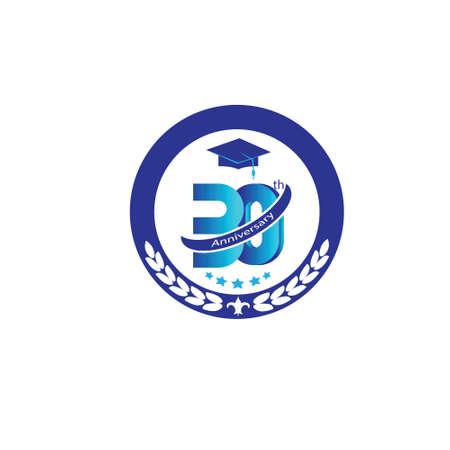 30 years: 30 years anniversary logo