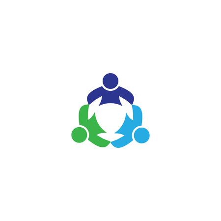three friends: three people icon. people friends logo concept vector icon. this icon also represents friendship, partnership cooperation unity,