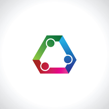 three people icon. people friends logo concept vector icon. this icon also represents friendship, partnership cooperation unity
