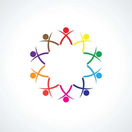 ten: Ten people icon. Unity concept.