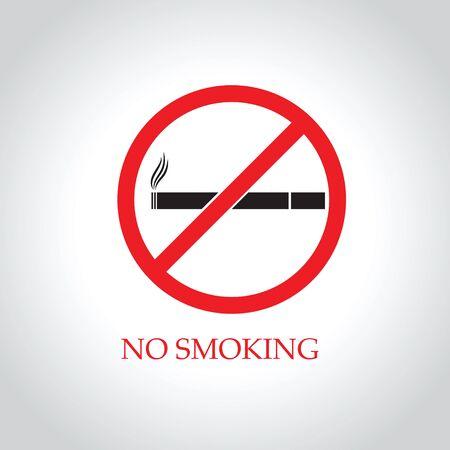 abstain: No smoking icon Vector EPS 10 illustration.