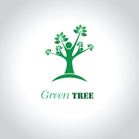 tree logo: Tree Logo; Family logo; Eco logo; Green Logo; Vector Logo Template Tree Logo. Illustration