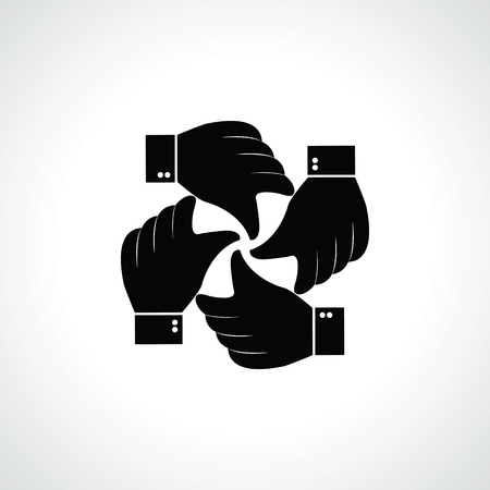 four hands: Vector four  hands icon Illustration