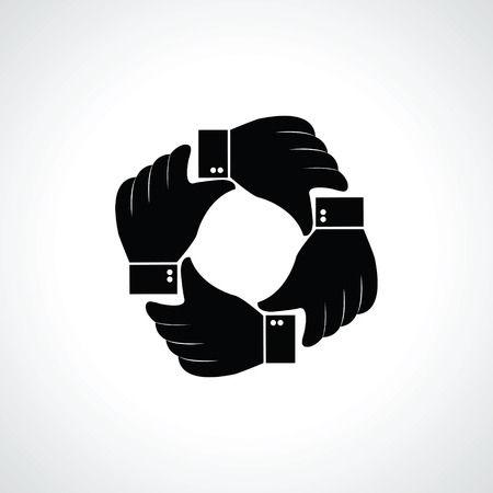 Vector four hands icon