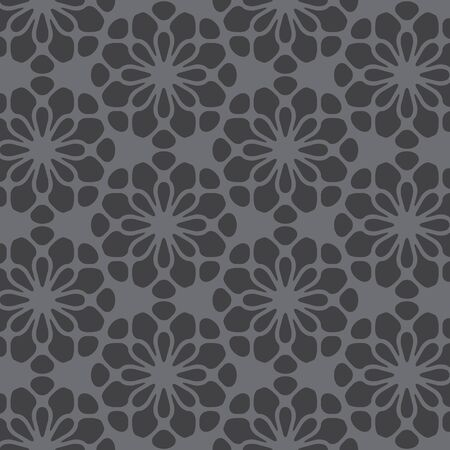 gray flower: gray flower  pattern abstract vector background. Modern stylish texture.