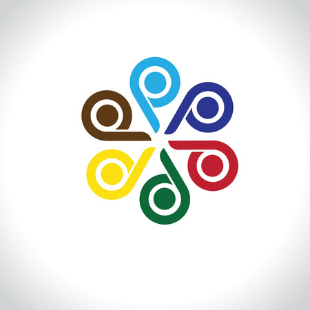 alliances: Design vector element. Abstract people icon. You can use in the media, mobile, public groups, alliances, environmental, mutual aid associations and other social welfare agencies.