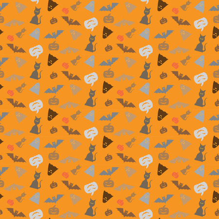 Seamless pattern for Halloween background.