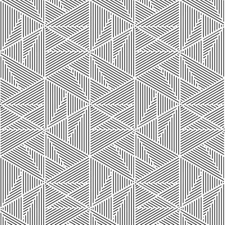 pattern: Black and white pattern, background line geometric. Illustration