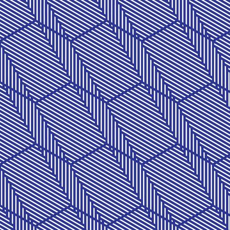 pattern: Blue and white pattern, background line geometric. Illustration