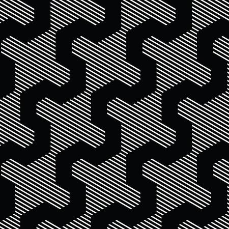 Black and white pattern, background line geometric. Иллюстрация
